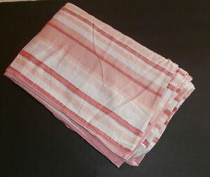 Liz Claiborne Salerno Peach Pink Stripped Duvet Cover Twin 100% Cotton