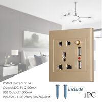 puerto USB Toma de corriente electrica Adaptador de corriente Enchufe de pared