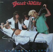 Great White Recovery Live 10 Track Vinyl LP Rock/Heavy Metal