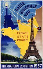 "Lilden, ""Paris, International Exposition, 1937"", digital print, Image 22hx14w"