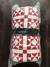 Calvin Klein Abigail FULL / QUEEN Quilted Coverlet - Red