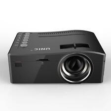 Portable Mini LED Projector Cinema Theater Laptop VGA USB SD AV HDMI Black US B▁
