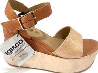 IGI & CO 3195033 sandali donna aperti zeppa tacco plateau pelle cinturino