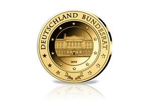 Goldausgabe 1/10 Pouces Bundesrat 2019 Pp Dans Étui