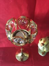 candle holder, Vintage with Swarovski ®�cut crystal, gold plated
