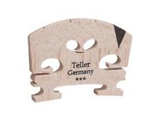 9142-44 Aubert Teller Semi Fitted 4/4 Violin Bridge w, Ebony V Shaped Insert