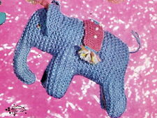 Vintage Visage  1940s knitting pattern- how to make this cute rajah the elephant