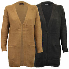 ladies cardigans Brave Soul womens cable knitted boyfriend open front winter new