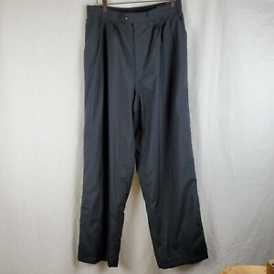 Mens Foot Joy Tour Collection Dry Joys Rain Golf Pants Side Opening Black EUC