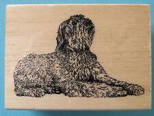 Realistic Bouvier des Flandres Dog Stamp Gallery Rubber Stamp