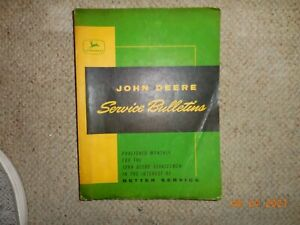 Vintage 1963 John Deere Service Bulletins In Folder
