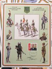 Belgique lot de feuilles commémoratives WWI, WWII, Corée, Otan, ... (FR et NL)