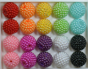 20mm Mixed Color Berry Acrylic Chunky Bubblegum Beads 20pc Lot