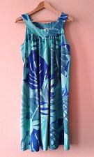 1980s vintage tropical palm print loose fitting cotton jersey sun dress 20