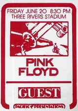 PINK FLOYD REPRO 1975 PITTSBURGH CONCERT BACKSTAGE PASS STICKER