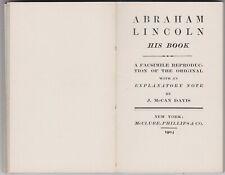 ABRAHAM LINCOLN - HIS BOOK - 1904 - LINCOLN DOUGLAS DEBATES - SCARCE!!