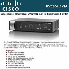 Cisco RV320-K9-NA Dual Gigabit WAN VPN 6-Ports Gigabit Ethernet Router