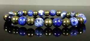 Pyrite Sodalite Bracelet Therapeutic Gemstone