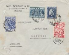 901) GREECE 1940 - COVER ECONOMIC CENSOR to GERMANY - OKW ZENSUR   NICE STAMPS -