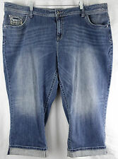 APT 9  Blue Cropped Jeans Denim Capris Modern Women's Plus 24W 24