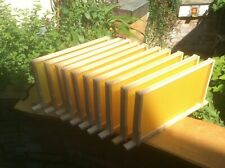 DN4 SN4 National Beehive Hoffmann Frames with Wax Foundation, Assembled 5,10,11