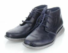 17-37 NEW $320 Men's Sz 7 M Cole Haan 2.Zerogrand Leather Chukka Boots In Navy