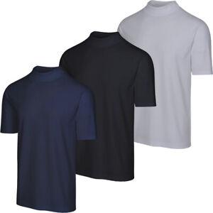 Greg Norman Golf Men's Mesh Solid Mock-T Turtleneck Shirt