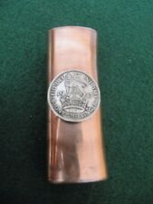 PERSONALIZED BRITISH ONE SHILLING 1947 COPPER LIGHTER CASE /YOUR NAME STAMPED