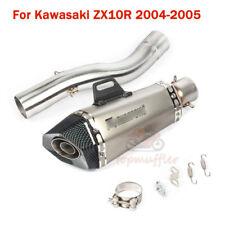 For Kawasaki Ninja ZX10R 2004-2005 Exhaust Tips DB Killer Connect Mid Pipe Tube