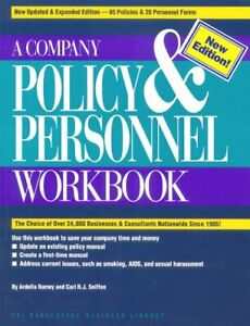 Company Policy and Personnel Workbook Paperback Ardella Ramey