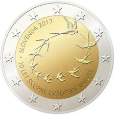 "ESLOVENIA 2 EUROS   2017 "" 10 ANIV. DE LA INTROD. DEL EURO EN ESLOVENIA ""  UNC"