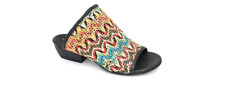 A.S.98 Felix Fabric Nero Multicolor Wedge Sandal Women's sizes 36-41/NEW!!!
