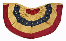 """USA Nylon American Primitive Tea Stained Flag SWAG BUNTING Banner ~ 48"""" x 25"""""""