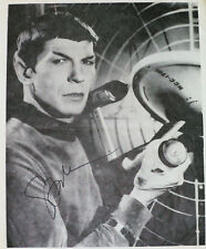 LEONARD NIMOY - Very Early PHOTO DOCUMENT SIGNED 1972 - Extremely Rare