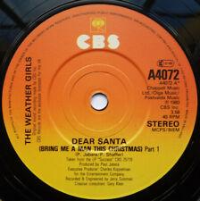 "The Weather Girls - Dear Santa (Bring Me A Man This Christmas) (7"", Single)"