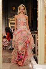 S'12 CHIC GORGEOUS Emilio Pucci abstract/floral print silk lace maxi dress gown