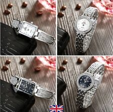 Polished Silver Strap Wristwatches with 12-Hour Dial