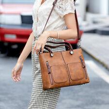 Leder Groß Damentasche Handtasche Shopper Bag Schultertasche Tragetasche
