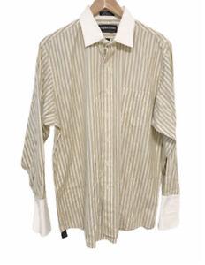 Joseph & Lyman yellow blue striped button down shirt