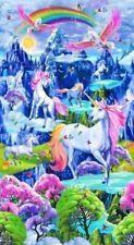 Timeless Treasures Fabric Majestic Unicorn 60cmL Panel Cotton Quilting Fabric