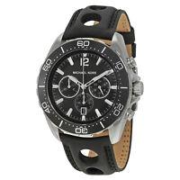 Michael Kors Windward Chronograph Black Dial Black Silicone Mens Watch MK8419