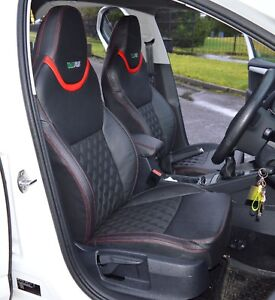 Skoda Octavia Sport VRS 3rd Gen Leather Look Tailored Car Seat Covers Tight Fit