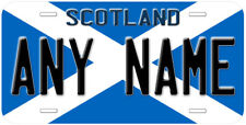 Scotland Flag Any Name Personalized Novelty Car License Plate