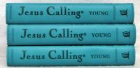 NEW Jesus Calling Set of 3 Teal Leatherflex Books by Sarah Young Enjoying Peace