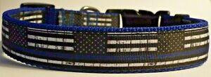 Police Thin Blue Line dog collar