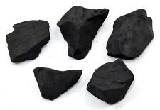 105g Natural Black Shungite Rough Water Cleaning Mineral Raw Stone Russia (5PCS)