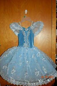 Girls Ballet Dance Leotard Tutu Dress Ballerina Dancewear Costume size MC  tag22