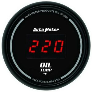 Auto Meter Black 0-400F Digital Oil Temp Gauge