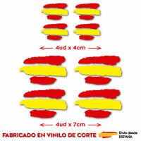 8 X BANDERA DE ESPAÑA VINILO ADHESIVO PEGATINA STICKER COCHE MOTO CASCO TUNING