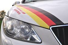 WM EM Deutschland Auto PKW Aufkleber Viper Streifen Fan Meile Fahne Flagge 1 m